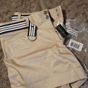 Brand new white house black market shorts and belt